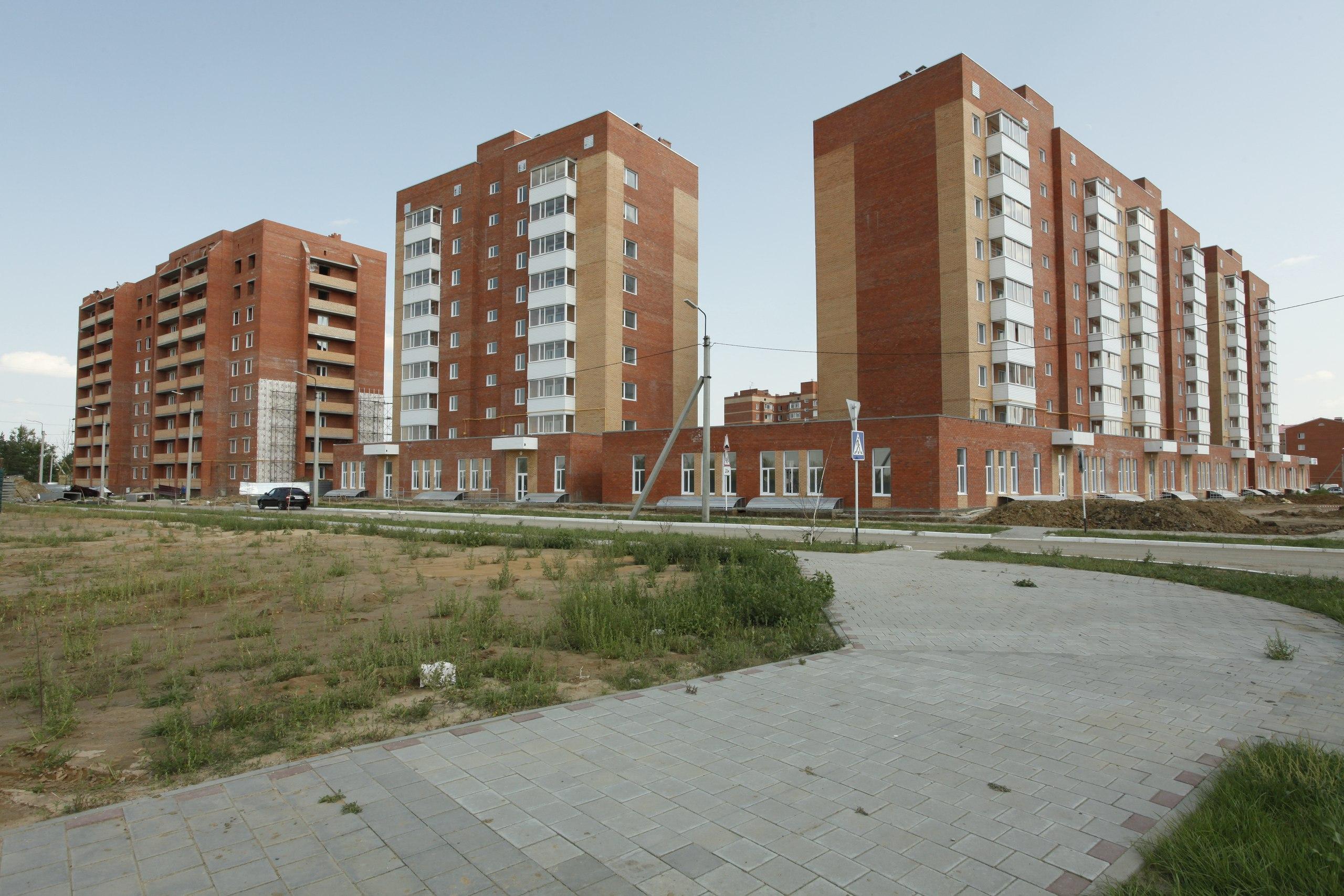 Возведение и реализация жилья происходит через МИО